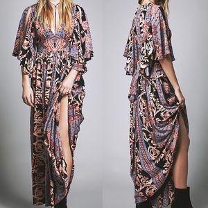 Free People • Fern Boho Print Maxi Dress